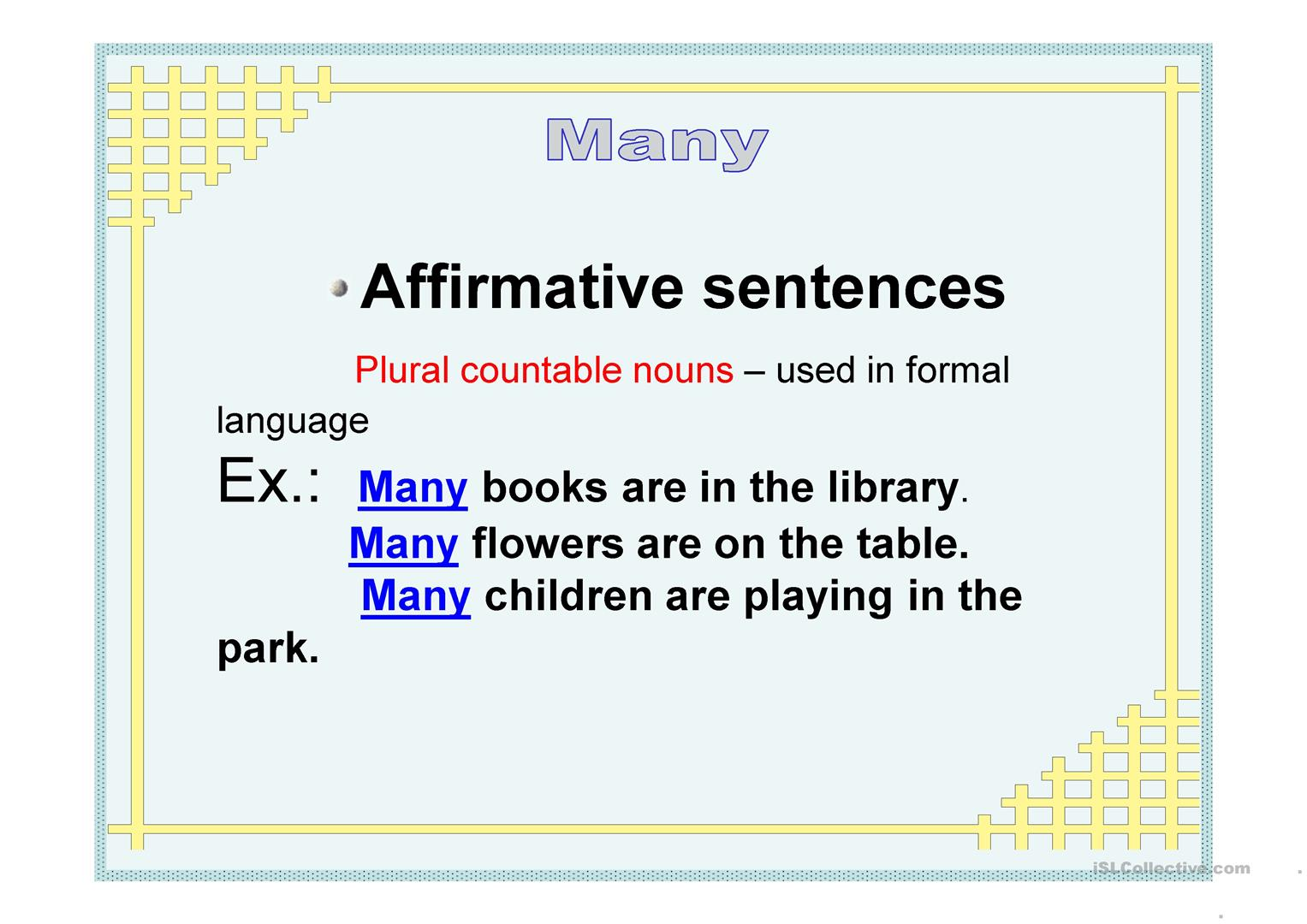 some any much many a lot of grammar pdf